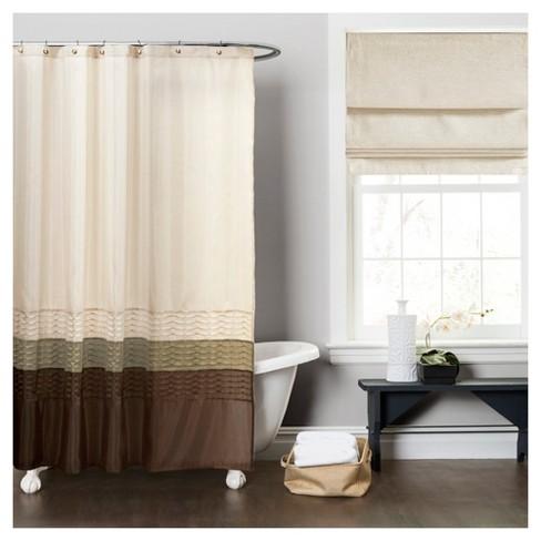 Mia Shower Curtain Green Brown