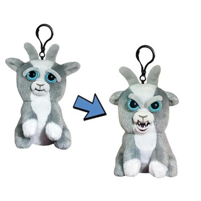 "William Mark Corp Feisty Pets 4"" Plush Keychain, Junkyard Jeff Goat"