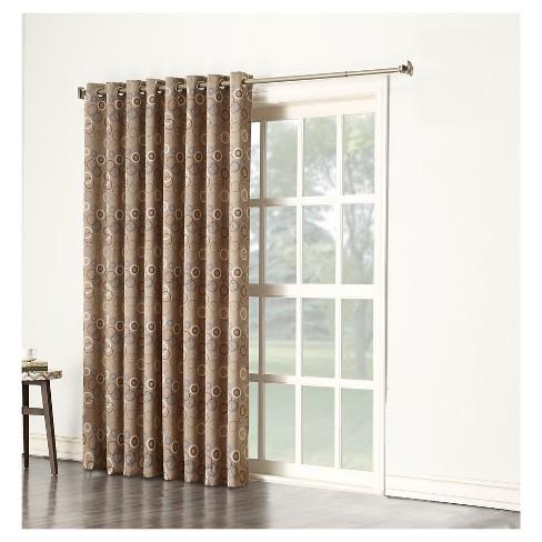 Capella Room Darkening Circles Sliding Door Patio Curtain Panel 84