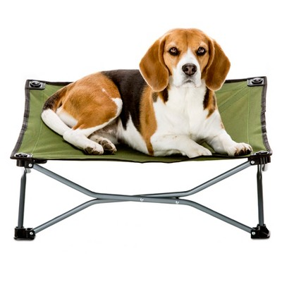 Carlson The Portable Pup Dog Bed - Indoor/Outdoor - Green - Small