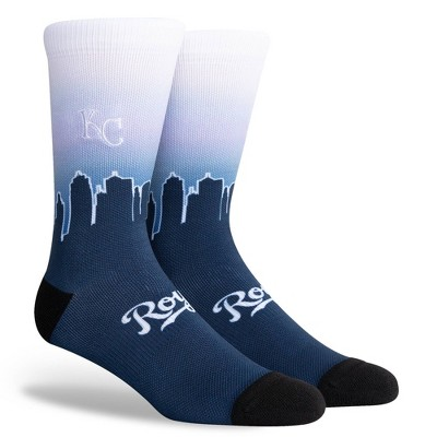 MLB Kansas City Royals Sky Crew Socks - L