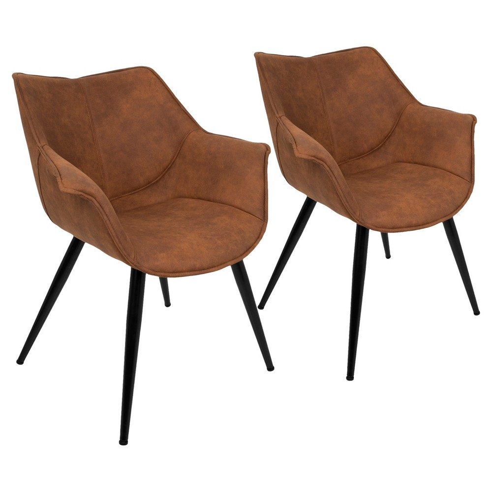 Wrangler Contemporary Accent Chair (Set of 2) - Rust (Red) - Lumisource