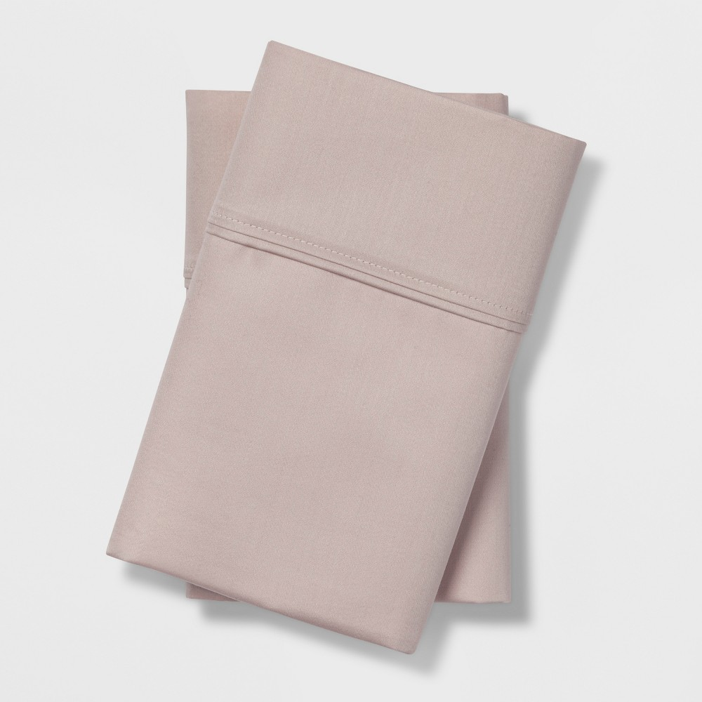 King 400 Thread Count Performance Pillowcase Set Pink - Threshold