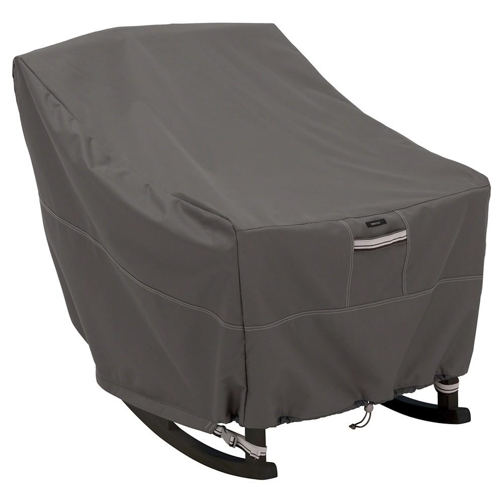 Image of Ravenna Medium Patio Rocking Chair Cover - Dark Taupe - Classic Accessories
