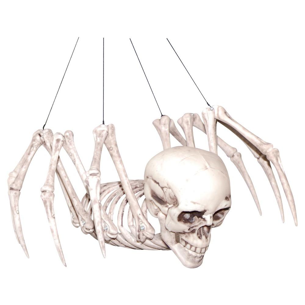 Sunstar Industries I Halloween Spider Skeleton Decor, Ivory