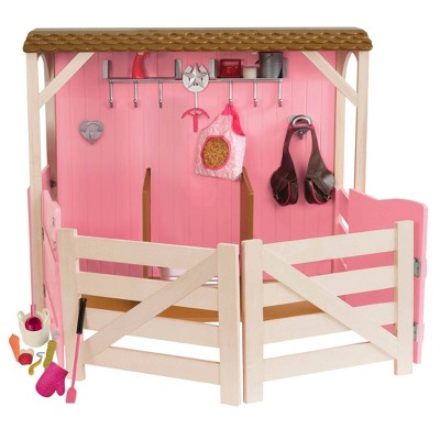 "Our Generation Horse Barn Playset for 18"" Dolls - Saddle Up Stables - Pink"