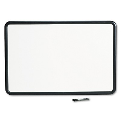 Quartet Contour Dry-Erase Board Melamine 36 x 24 White Surface Black Frame 7553