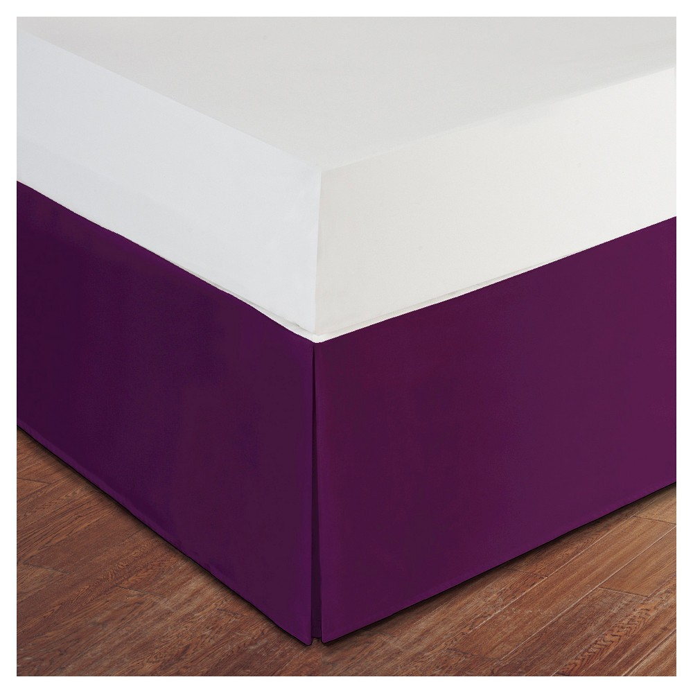 Image of Purple Tailored Microfiber 14 Bed Skirt (Twin)
