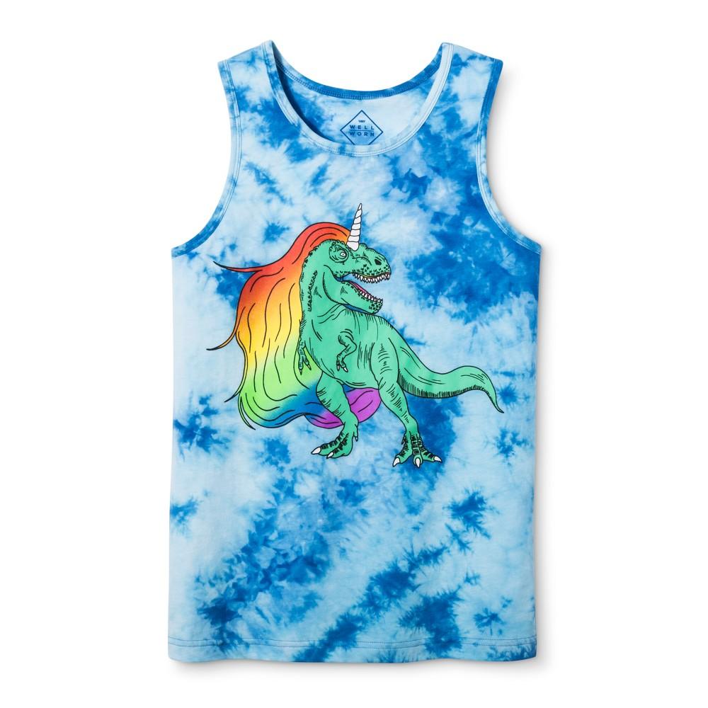 Pride Adult Gender Inclusive T-Rex Tank Top - Blue Frost XL, Adult Unisex