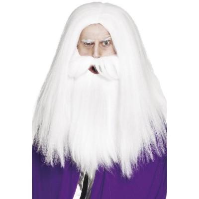 Smiffy Magician Beard and Wig (White)