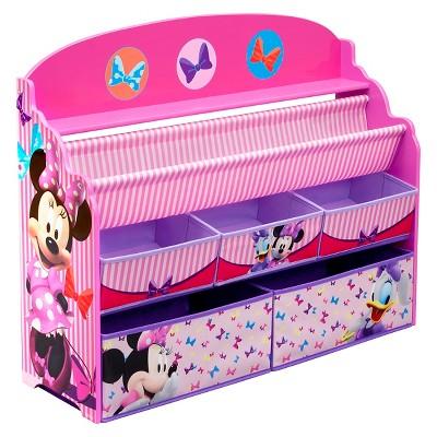 Deluxe Book & Toy Organizer Disney Minnie Mouse   Delta Children by Disney
