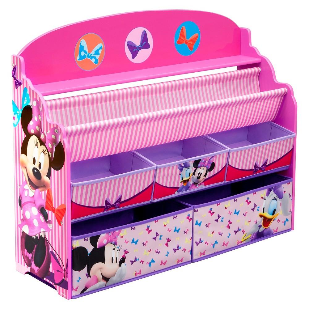 Image of Deluxe Book & Toy Organizer Disney Minnie Mouse - Delta Children