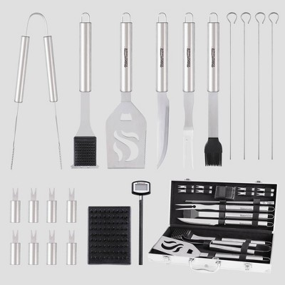 Royal Gourmet 20pc Stainless Steel Barbecue Grilling Accessories Set With Aluminum Case