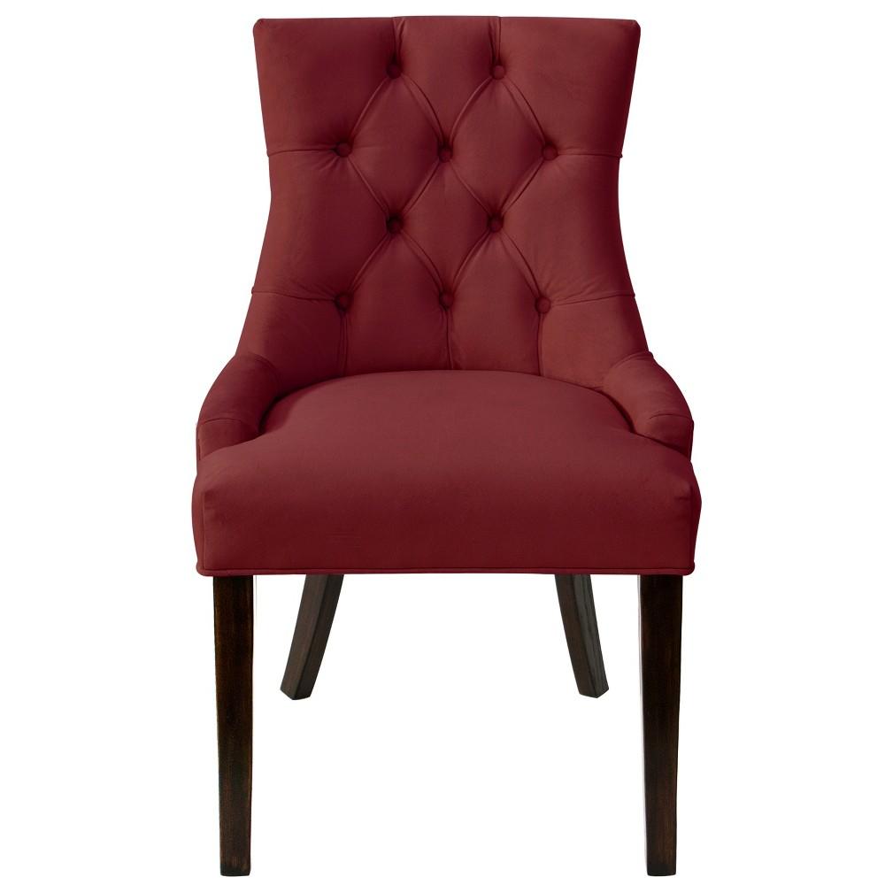 English Arm Dining Chair Dark Berry Velvet Threshold 8482