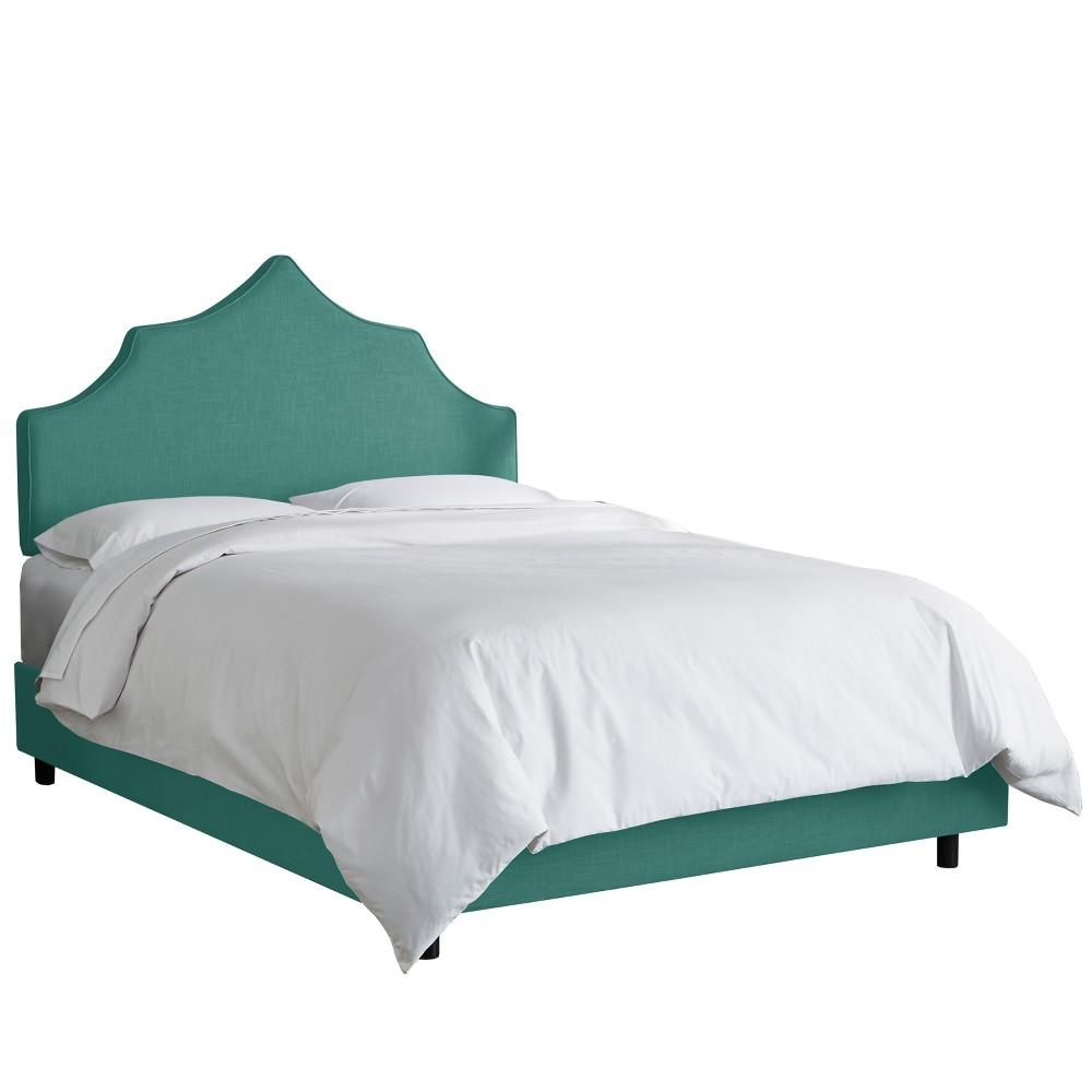 Upholstered Notched Bed Twin Linen Laguna - Skyline Furniture