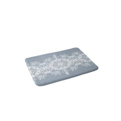 Lisa Argyropoulos Snowfrost Memory Foam Bath Mat Blue - Deny Designs