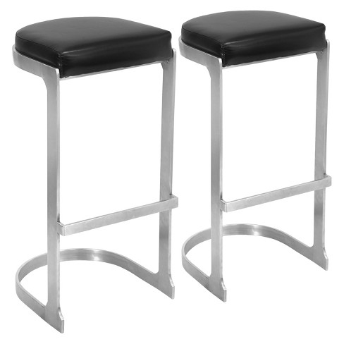 "Set of 2 Demi 31.5"" Barstool Metal/Black - LumiSource - image 1 of 5"