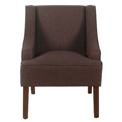 Classic Solid Swoop Arm Accent Chair   Homepop