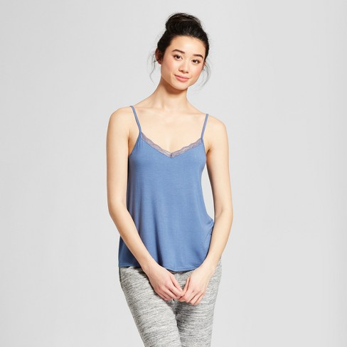 Women's Pajama Tank with Lace - Gilligan & O'Malley™ - image 1 of 2