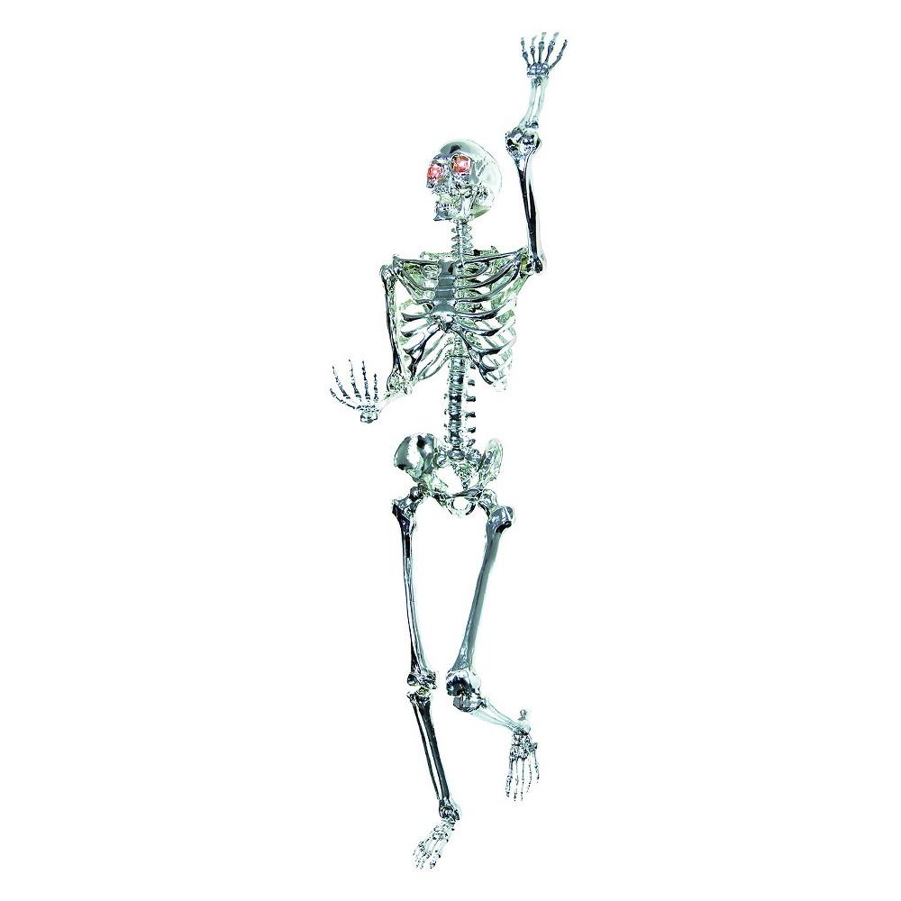 Halloween Skeleton Chrome (Grey) Lightup 5ft