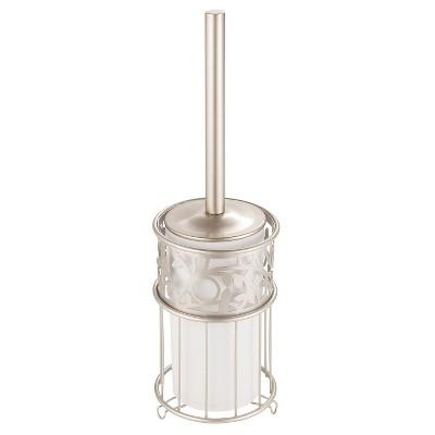 Vine Toilet Brush And Holder Set Pearl - iDESIGN