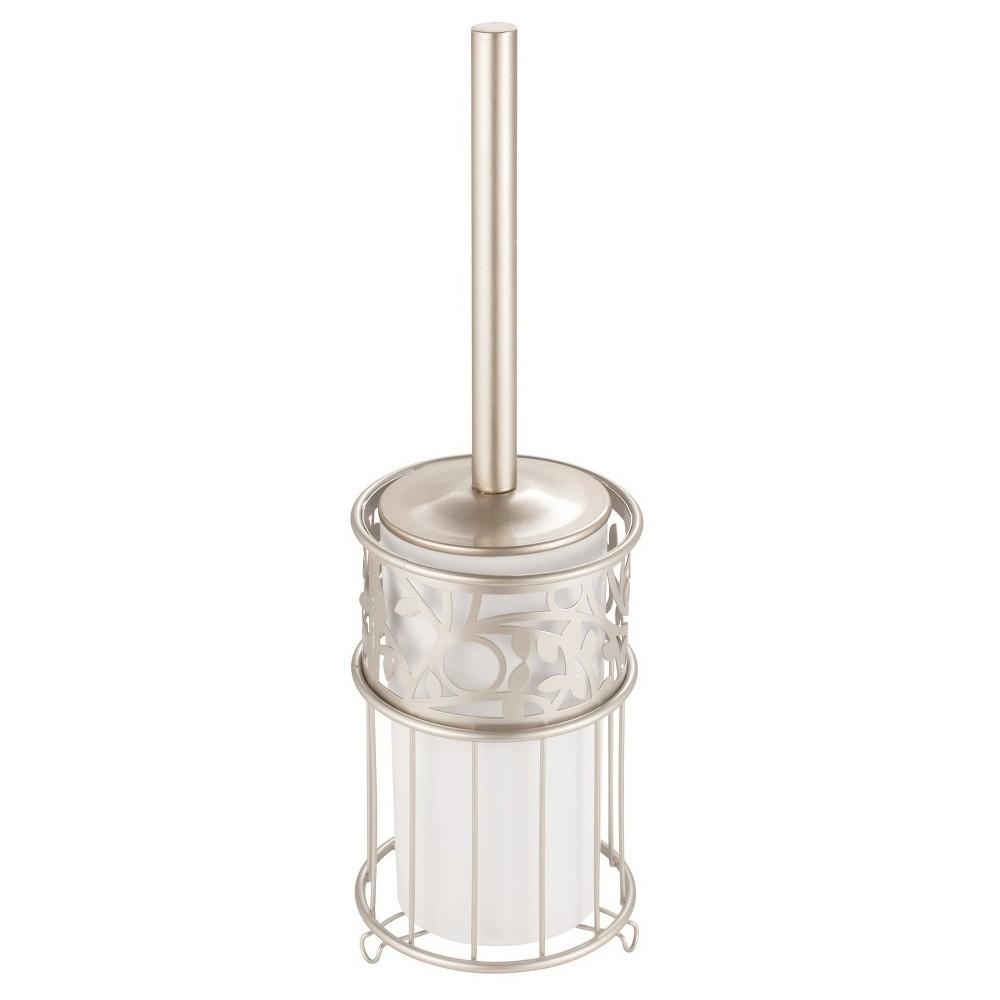 Vine Toilet Brush And Holder Set Pearl (White) - iDESIGN