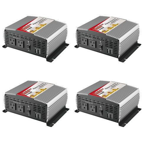 AudioPipe Pipemans 1500W Max DC Plug USB 12V Car Audio Power Inverter (4 Pack) - image 1 of 4