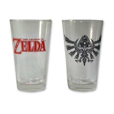 Nintendo® 2-Pack Pint Glass Set - Zelda and Triforce Logo