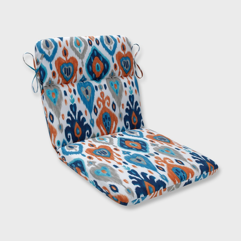 Paso Rounded Corners Outdoor Chair Cushion Azure Blue - Pillow Perfect