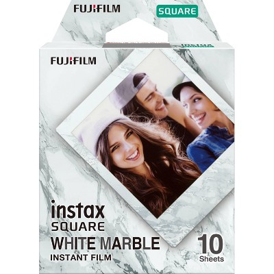Fujifilm Instax Square White Marble Film - 10ct