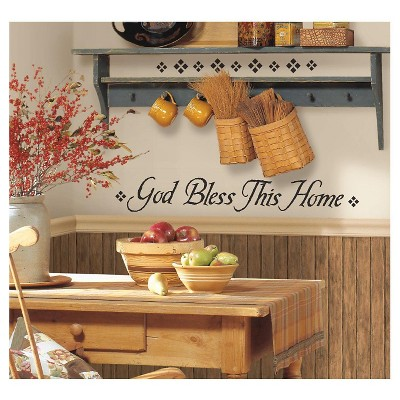 RoomMates God Bless This Home Peel & Stick Single Sheet