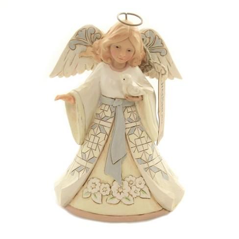 "Jim Shore 5.25"" Beautiful Peace White Woodland Angel - image 1 of 3"