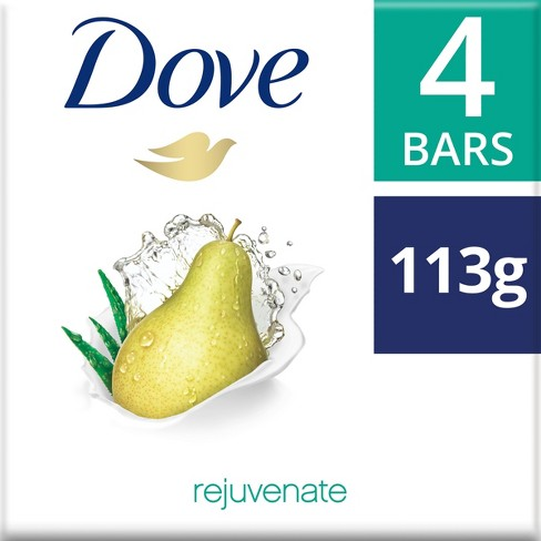 Dove Rejuvenate Pear and Aloe Vera Scent Beauty Bar - 4ct - 4oz - image 1 of 3