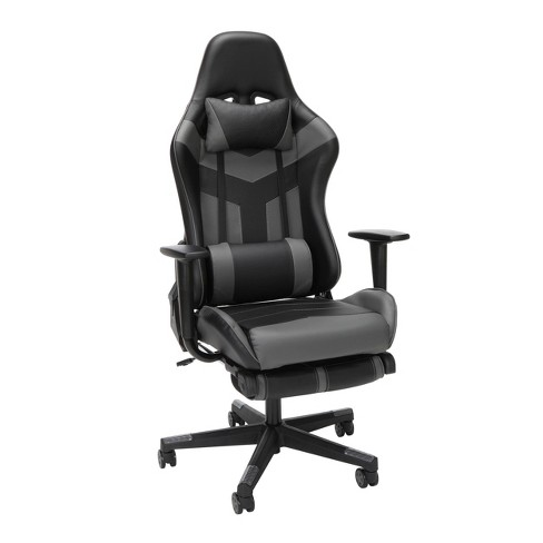 High Back Leather Gaming Chair with Extendable Footrest - OFM - image 1 of 4