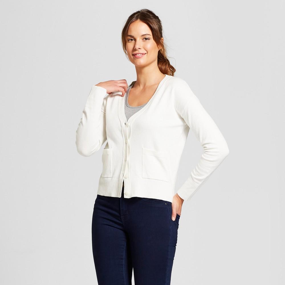 Women's Any Day V-Neck Cardigan Sweater - A New Day Cream (Ivory) Xxl