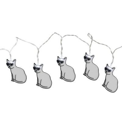 Large LED Cat String Lights White - Room Essentials™