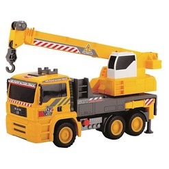 Dickie Toys - 12 Inch Air Pump Action Mobile Crane Truck