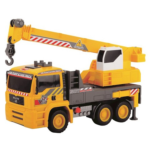 Dickie Toys - 12 Inch Air Pump Action Mobile Crane Truck - image 1 of 3