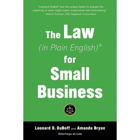 The Law (in Plain English) for Small Business - (In Plain English) 5 Edition (Paperback) - image 1 of 1