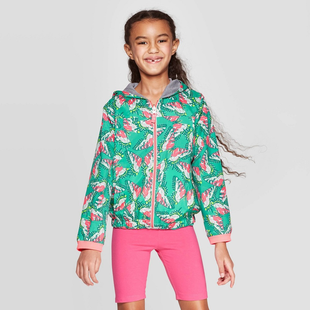 Girls' Reversible Bomber Jacket - Cat & Jack Green L