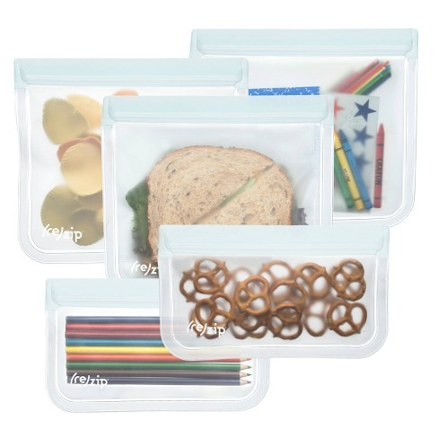 (re)zip Leak-proof Clear Reusable Storage Bag Kit - 5ct - image 1 of 4