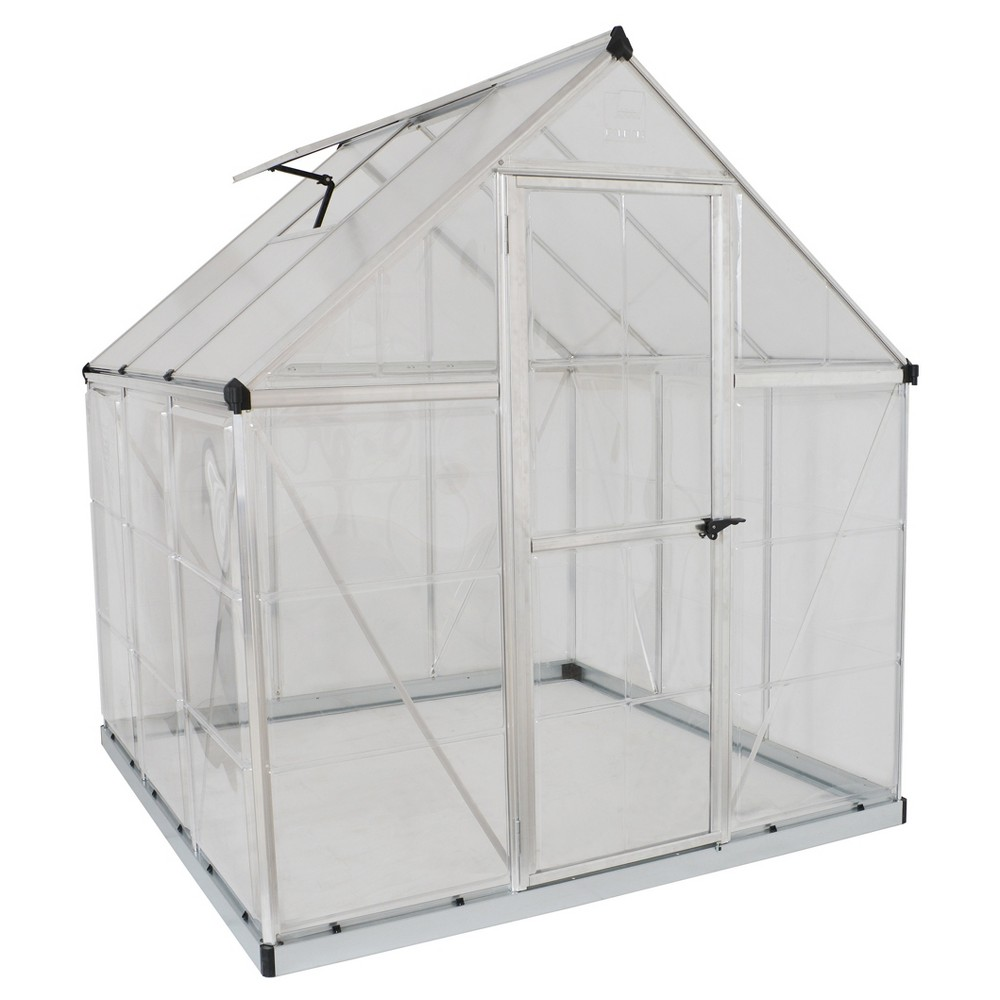 Image of 6'X4' Hybrid Greenhouse - Silver - Palram