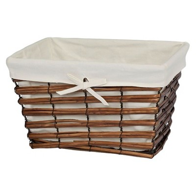 Sable Southwinds Towel Basket Walnut Brown - Creative Bath®