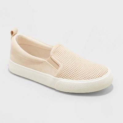 Girls' Odele Slip-On Apparel Sneakers - Cat & Jack™ Tan