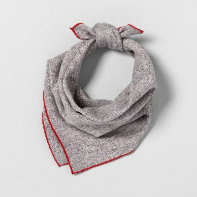 Pet Bandana Gray with Red Trim - Hearth & Hand™ with Magnolia