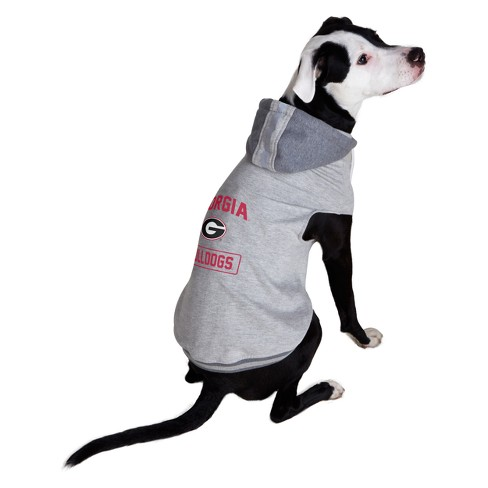 new concept 1835c a20b5 NCAA Little Earth Pet Hooded Crewneck Football Shirt - Georgia Bulldogs