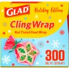 Glad Holiday ClingWrap Plastic Wrap Roll - 300 sq ft - image 4 of 4