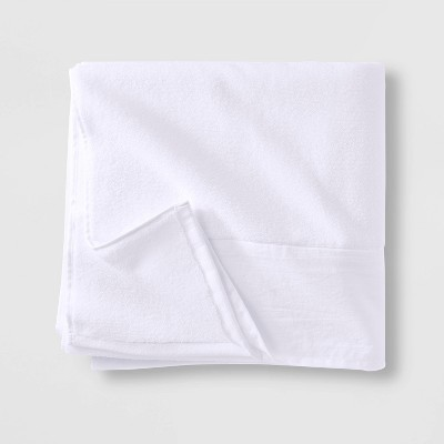 Linen Cuff Bath Towel White - Casaluna™