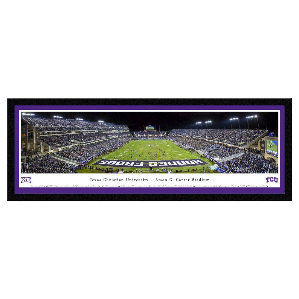 Ncaatcu Horned Frogs BlakewayFootball Stadium View Framed Wall Art, Tcu Horned Frogs