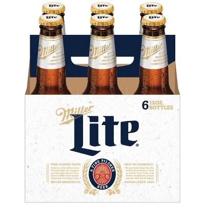 Miller Lite Beer - 6pk/12 fl oz Bottles